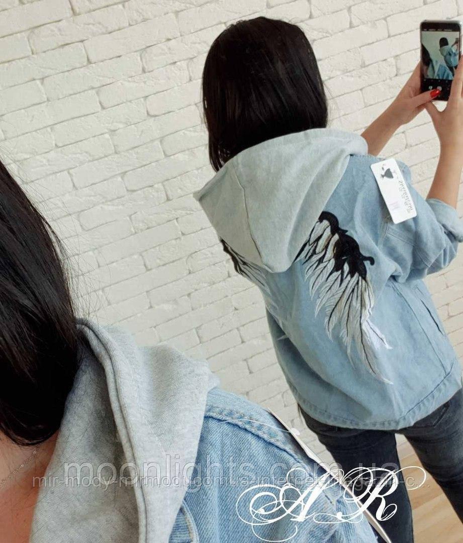 Джинсовая куртка BK-7928 р:44-48 041279 светлый джинс