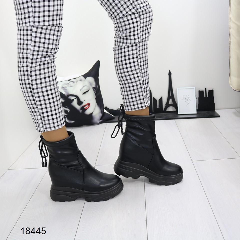 Женские ботинки на платформе и танкетке, А 18445