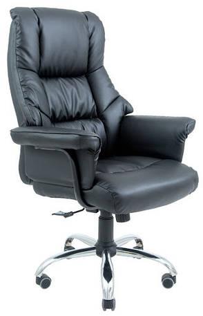 Кресло компьютерное Конгресс Хром М2 (Кожа Люкс), фото 2
