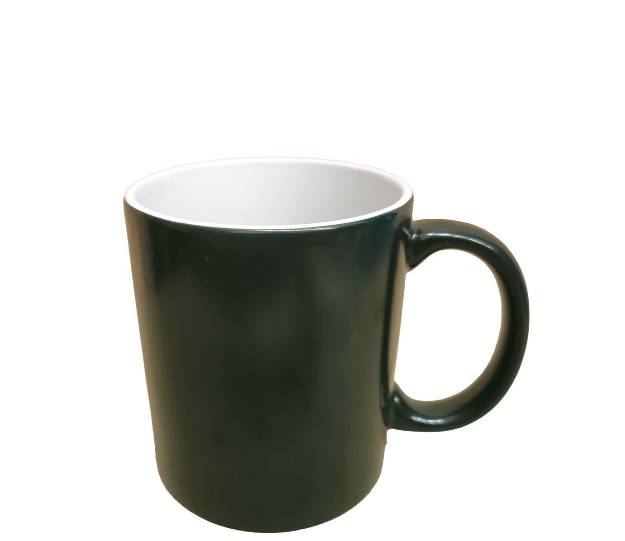 Чашка для сублимации хамелеон ПОЛУГЛЯНЕЦ 330 мл (зелёный)