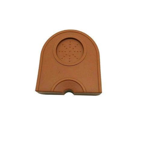 Угловой коврик-мат из силикона для темперa, коричневый (13,5*14 см)