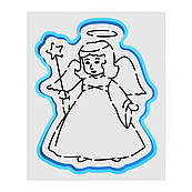 Ангел вырубка с трафаретом 12*9 см (TR-1)
