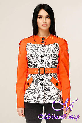Женская короткая весенняя куртка (р. 44-54) арт. 1131 Тон 632, фото 2