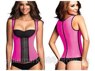 Утягивающий Корсет SCULPTING Clothes (корректирующий) на бретельках для похудения, пояс для похудения NY-02