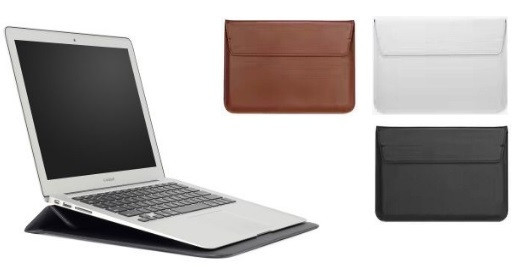 """Чехол конверт с подставкой для MacBook Pro 13.3 """" кожаный"""