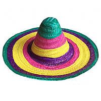 Шляпа Сомбреро цветная 50см