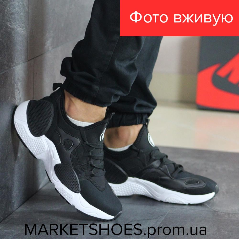Мужские кроссовки Nike Air Huarache черно- белые | Найк Аир Хуарачи,текстиль, стильные, модные,2019