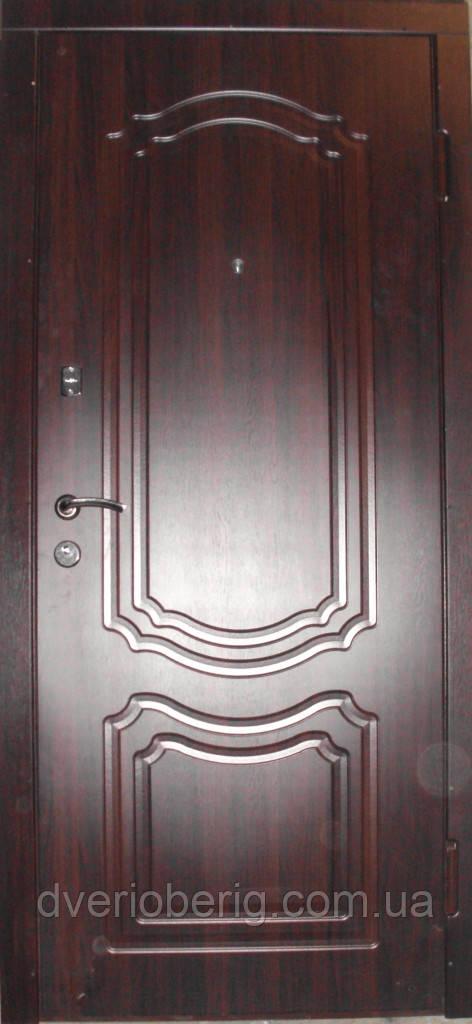 Входная дверь модель П3-206 темный орех
