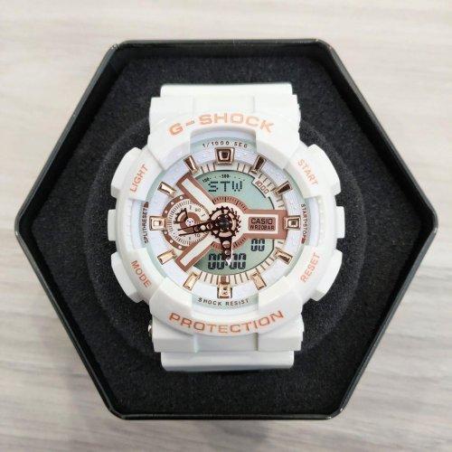 🔲 Casio GA-110 White-Cuprum 1006-1370 (Часы, минуты, секунды, будильник, календарь, секундомер, день недели)