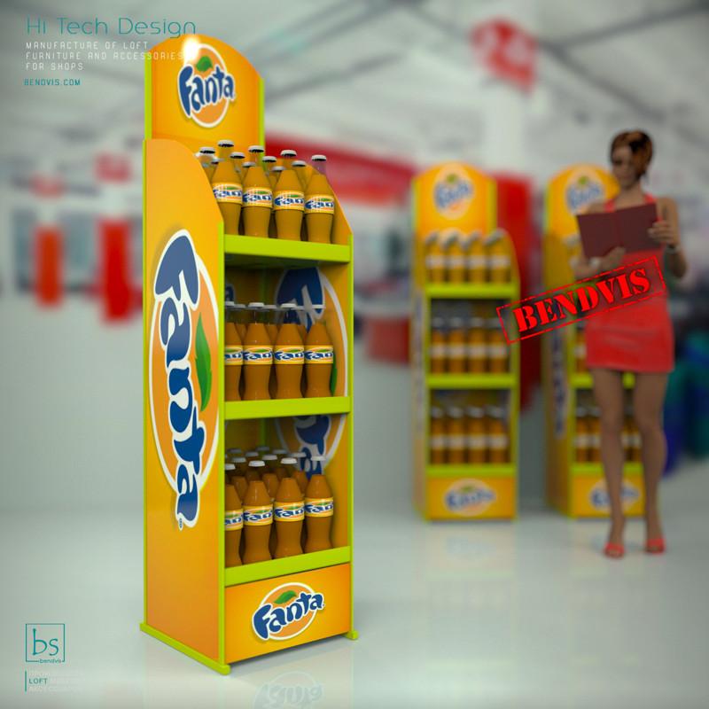 Рекламные стойки Fanta напольные