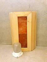 """Ограждение светильника """"Гималайская соль"""" и светильник Lindner  для сауны или бани (комплект)."""