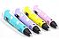3D Ручка PEN-2 с LCD-дисплеем + Пластик! Крутая ручка для рисования! РОЗОВАЯ, фото 7