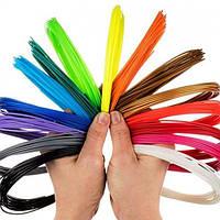 Качественный пластик для 3D ручки PLA, ABS 20 цветов