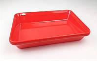 Блюдо для выкладки продуктов One Chef из меламина (300x190x55 мм), красная