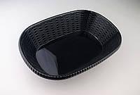 Блюдо овальное из меламина, 29,5*20,8*6,8 см, черное
