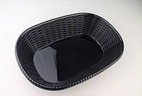Блюдо овальное из меламина, 35*24,7*6,9 см, черное