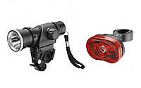 Комплект фонарей велосипедный (передний/задний) Jing yi JY-245H+006T-0,5W
