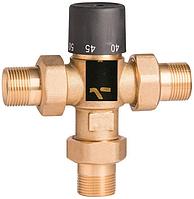 """Термостатический смешивающий клапан Gross 3/4"""" 30-60°С (Вывод по центру)"""