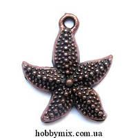"""Метал. подвеска """"морская звездочка"""" медь (2х2,4 см) 8 шт в уп."""