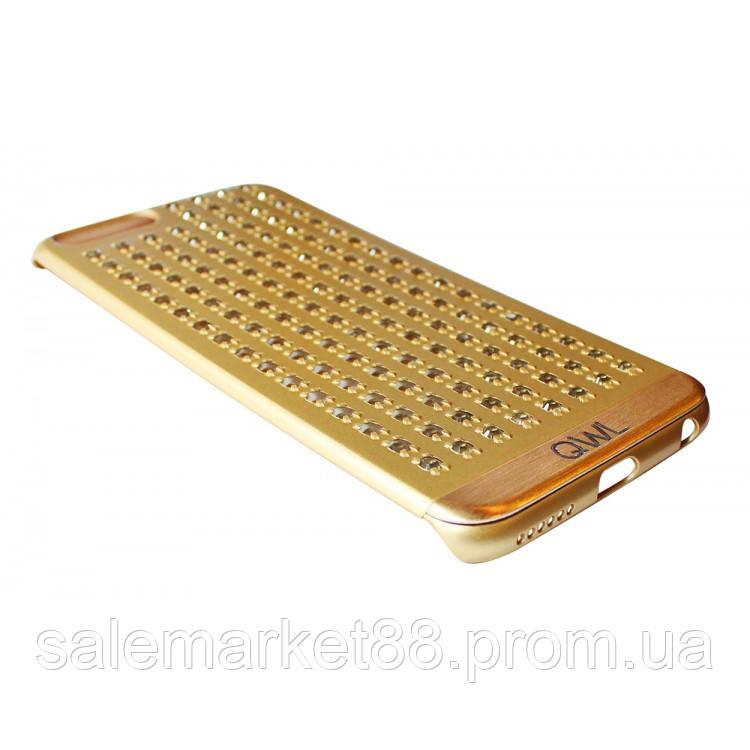 Чехол на iPhone 6/6s пластик с камушками (чешское стекло) FASHION CASE COV-015