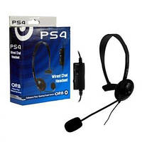 Проводная гарнитура с микрофоном для PS4 (ORB)