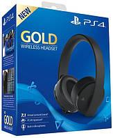 Наушники беспроводные для PS4 SONY Gold Wireless Stereo Headset 2.0 2018 (черный)
