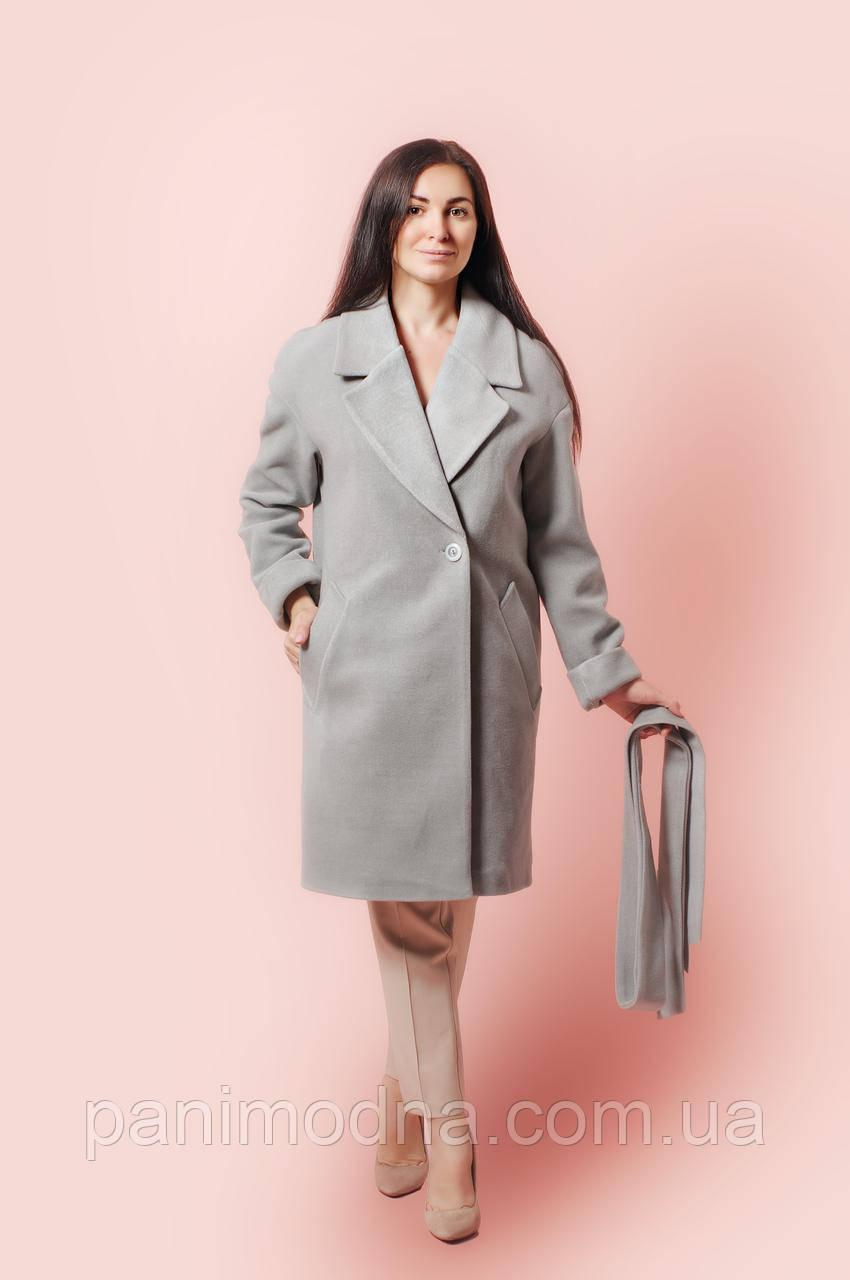 """Женское Пальто """"АЛСУ"""" из пальтовой шерсти на подкладке. Размер 52. 54. 56. 58"""