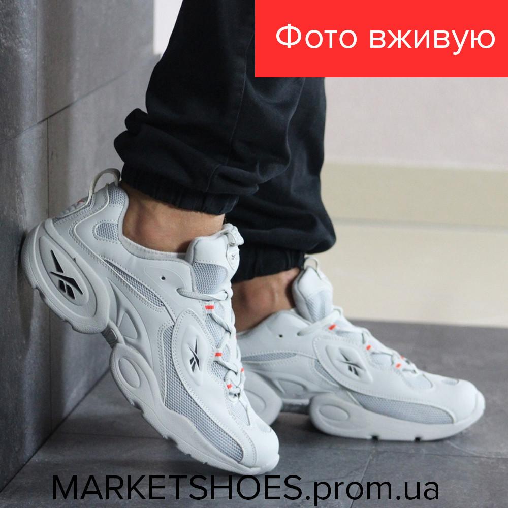 Мужские кроссовки Reebok белые | Рибок, кожа+сетка, стильные, модные, красивые, 2019
