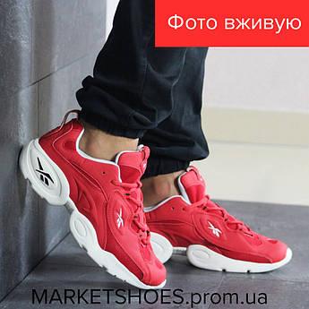 Мужские кроссовки Reebok красные  | Рибок, кожа нубук+сетка, стильные, модные, красивые, 2019