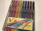 Набор цветных гелевых ручек с блестками First, 10 шт, фото 5