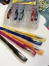 Набор цветных гелевых ручек с блестками First, 10 шт, фото 2