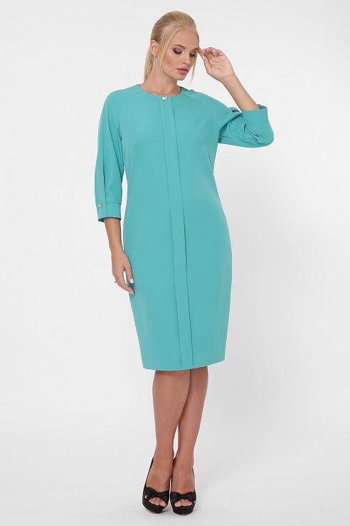 Платье в деловом стиле Элиза мята (52-58)