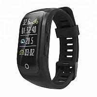 Умный фитнес браслет Lemfo S908 со встроенным GPS (Черный)