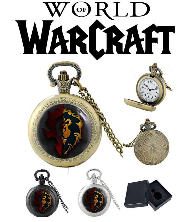 Карманные часы с символом Альянс/Орда Варкрафт/ World of Warcraft
