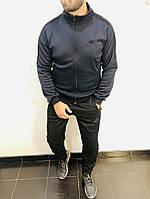 Костюм спортивный мужской из трикотажа с эмблемой NIKE в цвете темний+черный