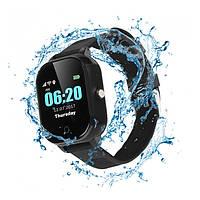 Детские смарт-часы JETIX DF50 Ellipse Aqua с GPS трекером (Черный)