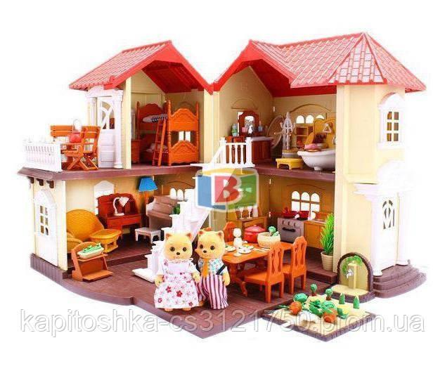 Кукольный домик с мебелью. Световые эффекты. Материал: пластик. Для детей от 3 лет.Код/Артикул Toys Ltd 012-01