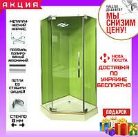 Пятиугольная душевая кабина 100х100 см Veronis KN-8-100 прозрачное стекло