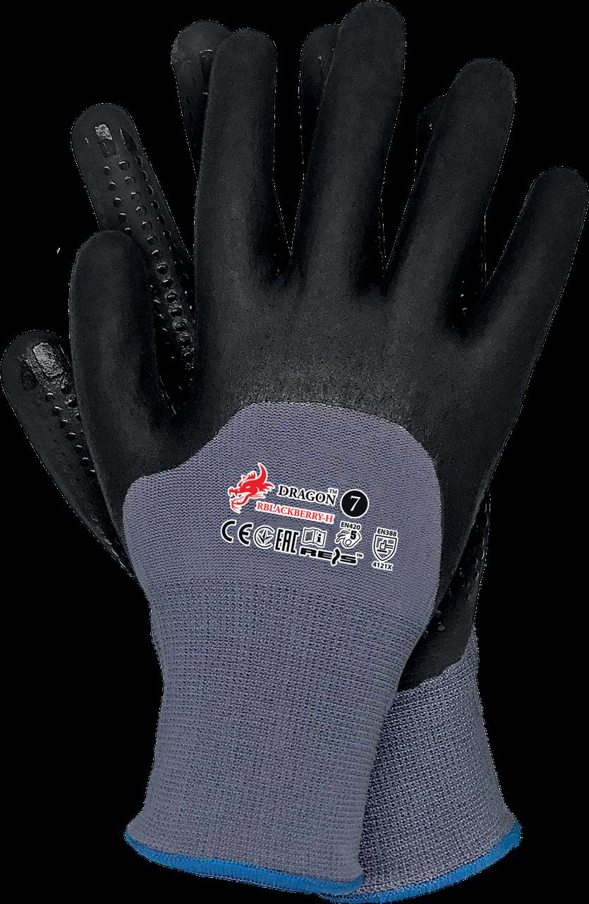Перчатки защитные, изготовленные из лайкры и нелона RBLACKBERRY-H SB