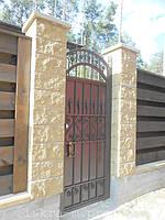 Ворота откатные кованые. Калитка кованая (пгт. Гостомель) 3