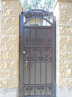 Ворота откатные кованые. Калитка кованая (пгт. Гостомель) 5