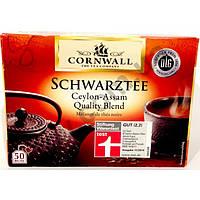 Чай в пакетиках Cornwall Schwarztee Ceylon Assam 50 шт. (Германия)