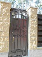 Ворота откатные кованые. Калитка кованая (пгт. Гостомель) 6