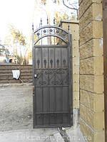Ворота откатные кованые. Калитка кованая (пгт. Гостомель) 7