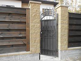 Ворота откатные кованые. Калитка кованая (пгт. Гостомель) 8