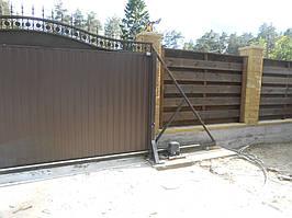 Ворота откатные кованые. Калитка кованая (пгт. Гостомель) 12