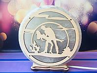 Соляная лампа Танцующая пара танго d 17 см, фото 1