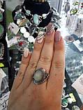 Изумрудный кварц кольцо с натуральным кварцем в серебре. Размер 19 Индия, фото 5