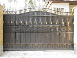 Ворота откатные кованые. Калитка кованая (пгт. Гостомель) 20