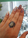 Изумрудный кварц кольцо с натуральным кварцем в серебре. Размер 19 Индия, фото 4